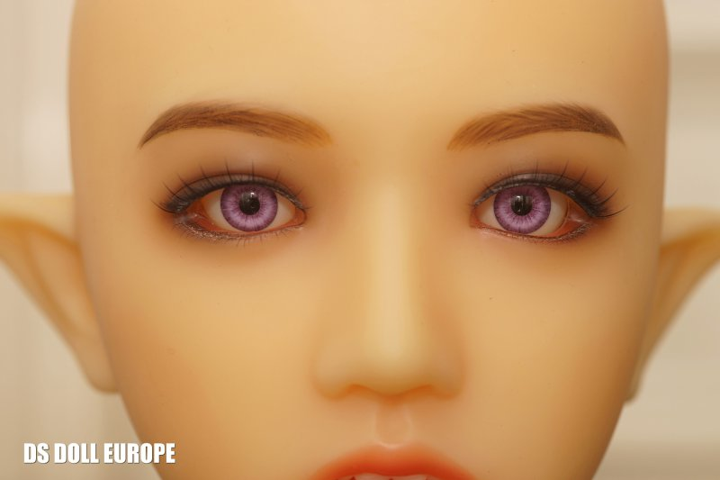 Purpurfarbene Augen, Samantha-Kopf, Hautton Yellow